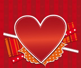 Romantic Heart Greeting Cards background vector set 01