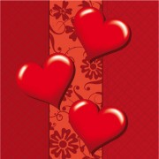 Link toRomantic heart greeting cards background vector set 02