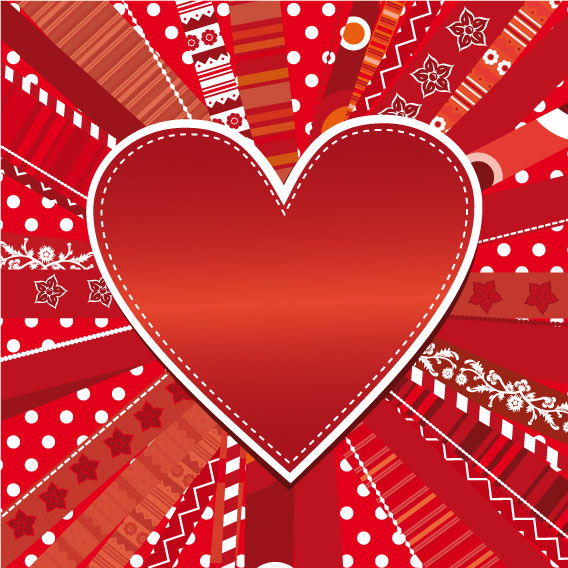 romantic heart greeting cards background vector set 03