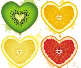Set of Different Heart background vector graphic 02