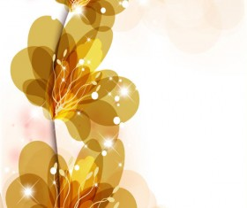 Bright background with vivid flower design vector 02