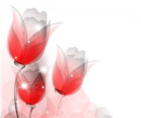 Bright background with vivid flower design vector 04