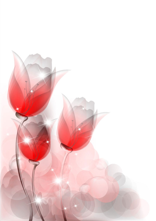 Free EPS file Bright background with vivid flower design vector 04 ...