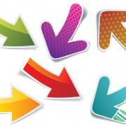 Link toDifferent arrow stickers design elements vector
