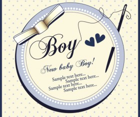 Elements of Cute New baby cards design vector 05