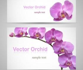 Vivid with flower banner design vector 02