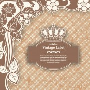 Link toLuxury vintage label and ornaments vector 01