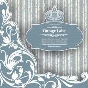 Link toLuxury vintage label and ornaments vector 04