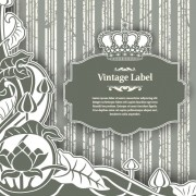 Link toLuxury vintage label and ornaments vector 05