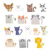 Link toDifferent funny cat desgin vector