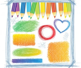 Hand drawn Colorful Pencil Pattern vector 01