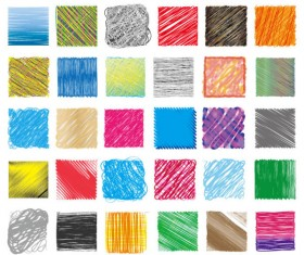 Hand drawn Colorful Pencil Pattern vector 02