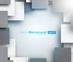 Elements of 3d objects vector background set 04
