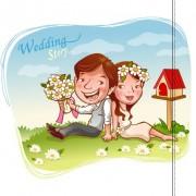Link toElements of romantic cartoon lovers vector set 10