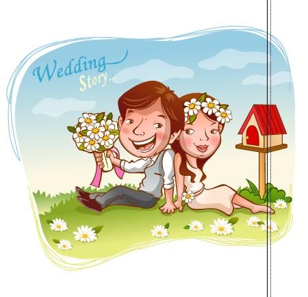 Elements of Romantic cartoon Lovers vector set 10 - Vector Cartoon ...