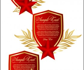 Festival elements of 23 february and stars design vector 01