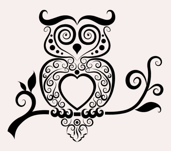 Hand Drawn Owl Decoration Pattern Vector Animal
