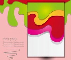 Elements of Color wave abstract vector background art 04