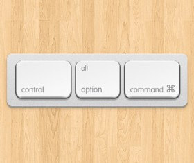 apple keyboard Button PSD graphic