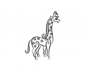 Collection of Hand drawn Animal Pattern vector 06