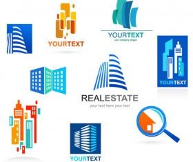 Building elements logo vector graphic 01