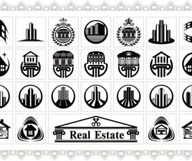 Building elements logo vector graphic 02