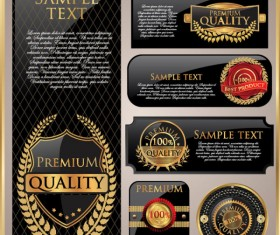 Luxury Gold Premium quality labels  vector 01