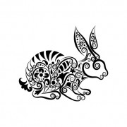 Link toHand drawn rabbit decoration pattern vector