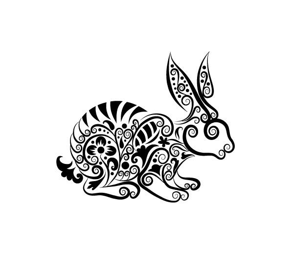 Hand drawn Rabbit Decoration Pattern