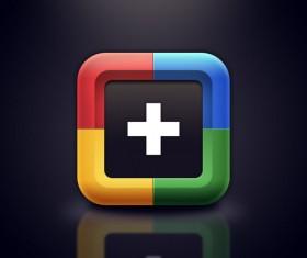 Set of Creative Google+ icon