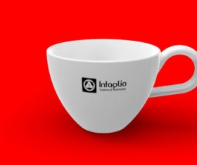 Set of Vivid of Cup PSD graphic 06