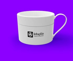 Set of Vivid of Cup PSD graphic 08