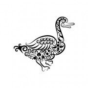 Link toVivid hand drawn goose decoration pattern vector