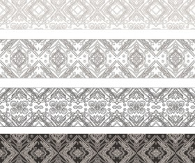 Vintage Decorative pattern and borders vector set 01