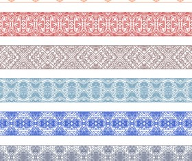 Vintage Decorative pattern and borders vector set 02