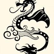 Link toVivid hand drawn dragon decoration pattern vector