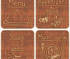 Different of Vintage food labels vector 03