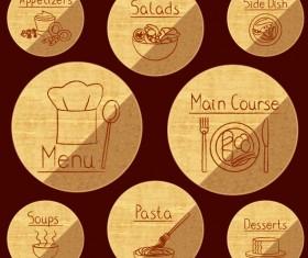 Different of Vintage food labels vector 05