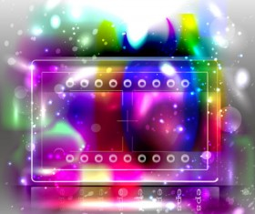 Abstract background with Colored bubbles vector graphic 01