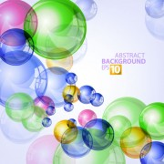 Link toAbstract background with colored bubbles vector graphic 03