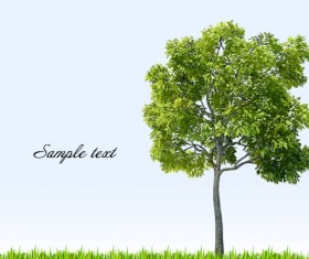 Different tree design elements vector 04