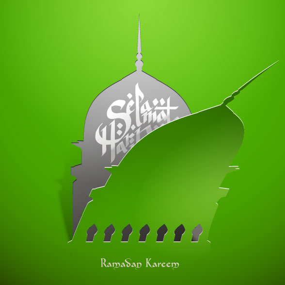 Mysterious Islam Building elements vector 02