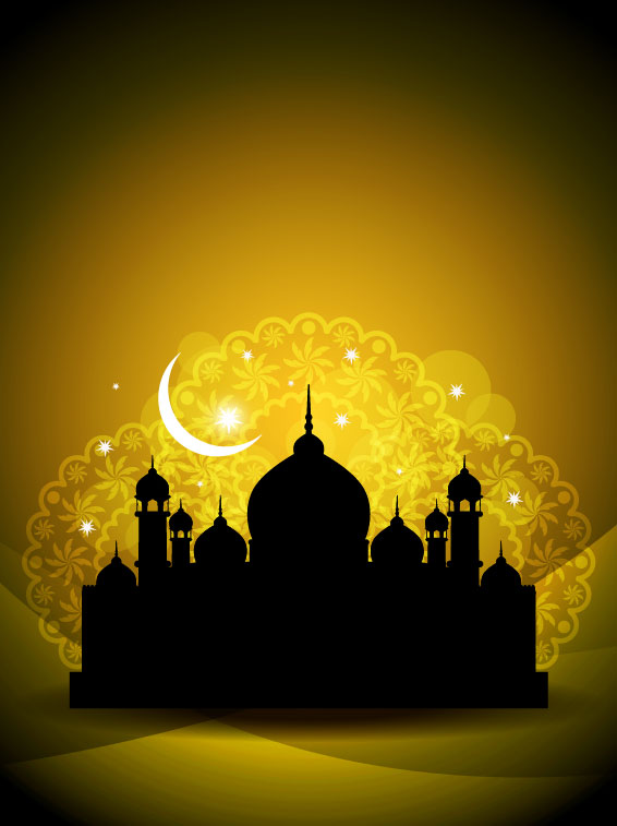 Mysterious Islam Building elements vector 03