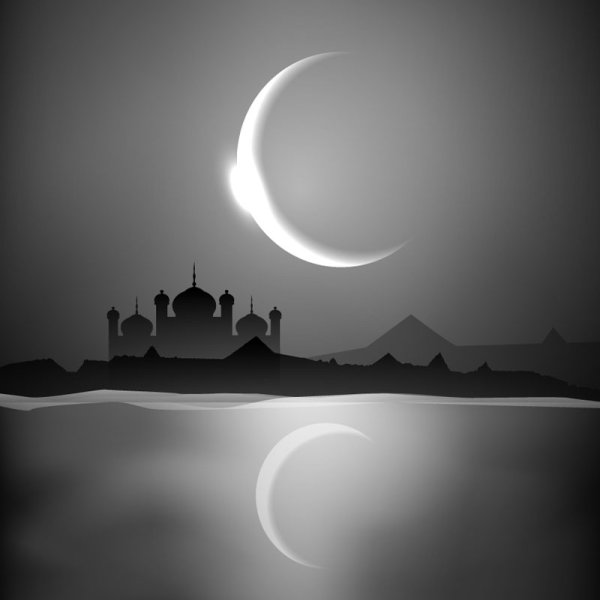 Mysterious Islam Building elements vector 05