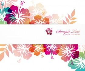 Flower elements background vector graphics