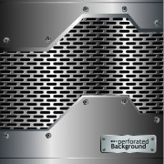 Link toMetal perforated vector background 01