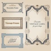 Link toSet of decorative vintage frame vector graphics 01