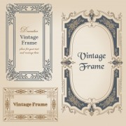 Link toSet of decorative vintage frame vector graphics 02