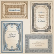 Link toSet of decorative vintage frame vector graphics 04