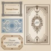 Link toSet of decorative vintage frame vector graphics 05